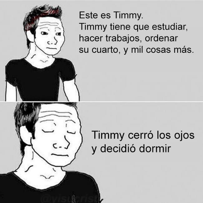 timmy no quiere hacer nada