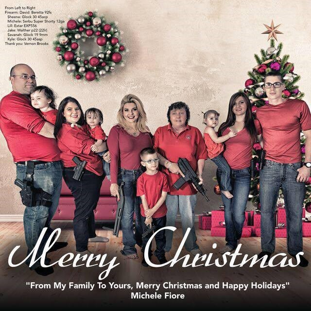 'MERICA of the Day: This Ordinary Family Christmas Card is Packing Some Serious Heat for the Holidays