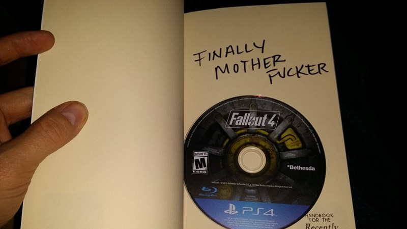 guys wife hides copy of fallout 4