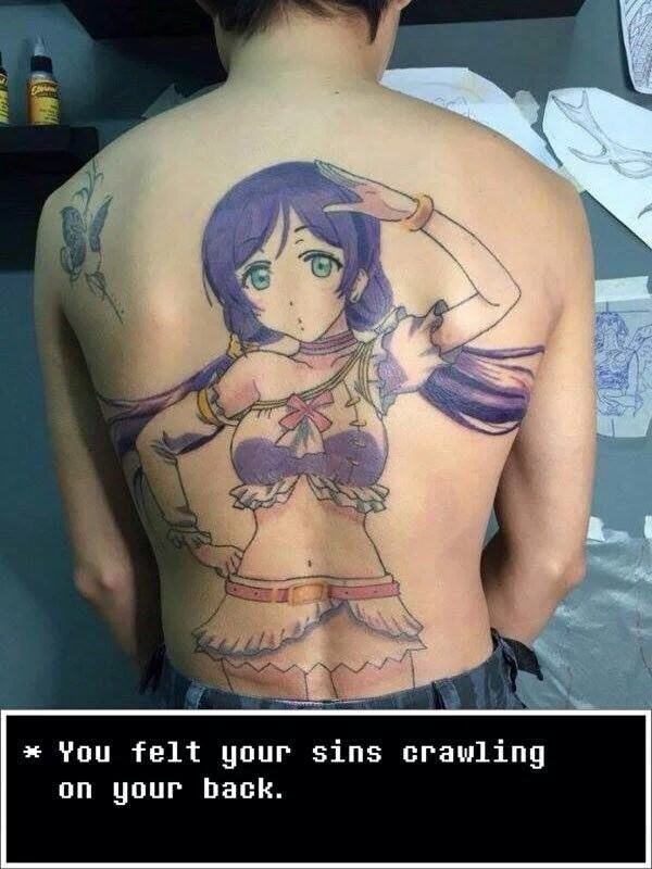 anime,tattoos,love live