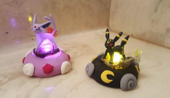 pokemon light up mini statues