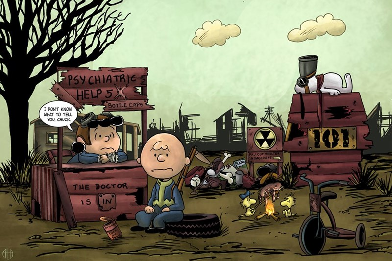 fallout,Fan Art,charlie brown