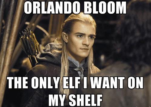 christmas,orlando bloom,elf on the shelf