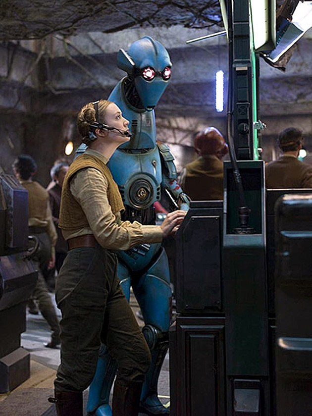 star wars vii billie lourd costume reveal