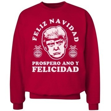 sweater christmas Wish for a White Christmas, Just Like Donald Trump