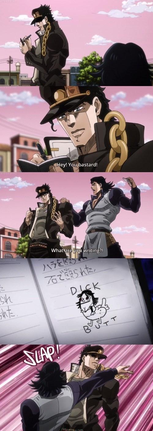anime memes jjba dickbutt