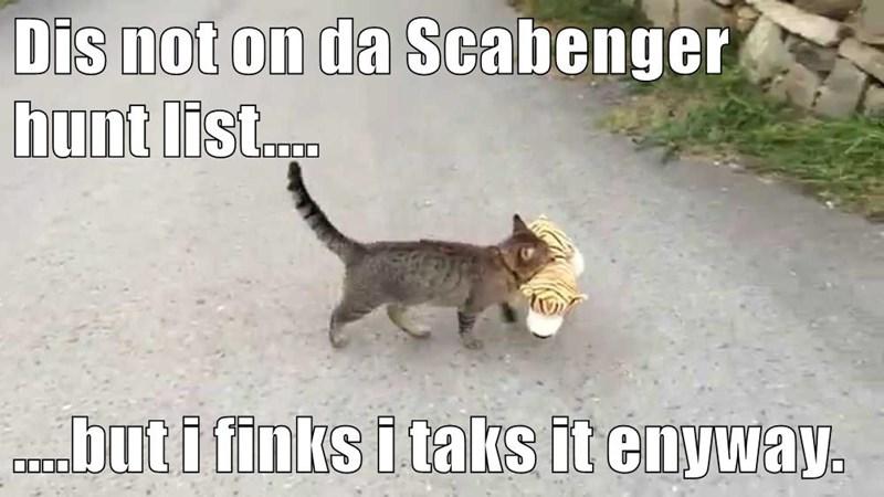 Dis not on da Scabenger hunt list....  ....but i finks i taks it enyway.