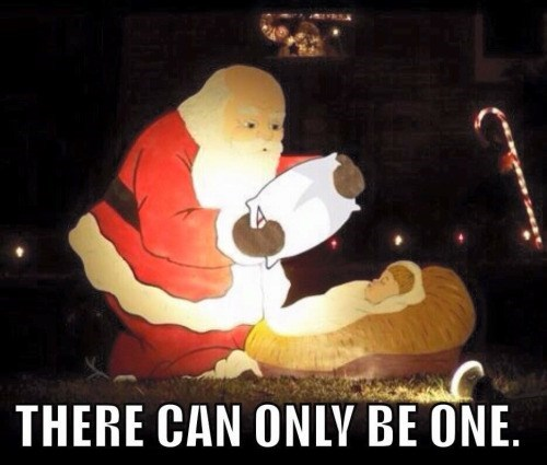 funny memes santa there can only be one