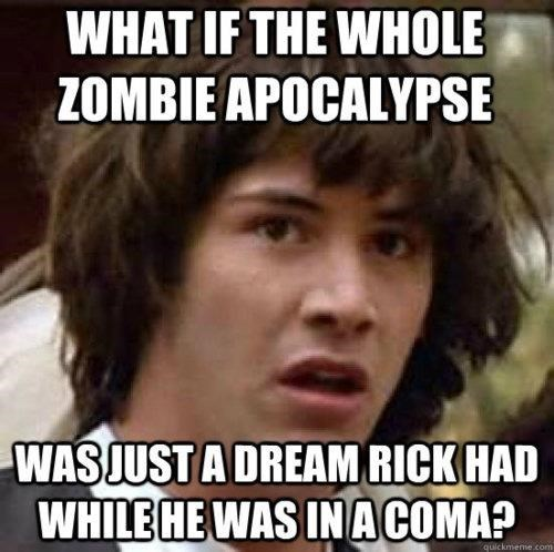 funny memes walking dead all a dream