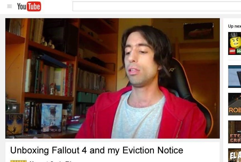 unboxing fallout 4 and my eviction notice