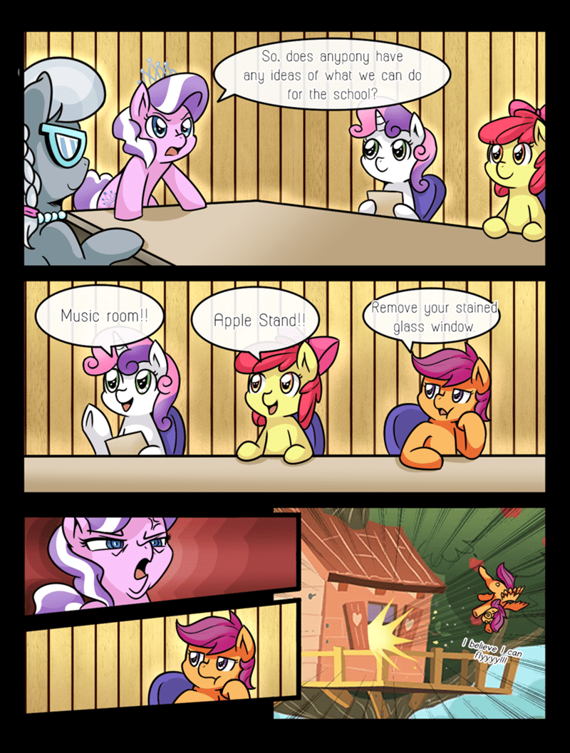 diamond tiara,boardroom suggestion,Sweetie Belle,apple bloom,silver spoon,Scootaloo