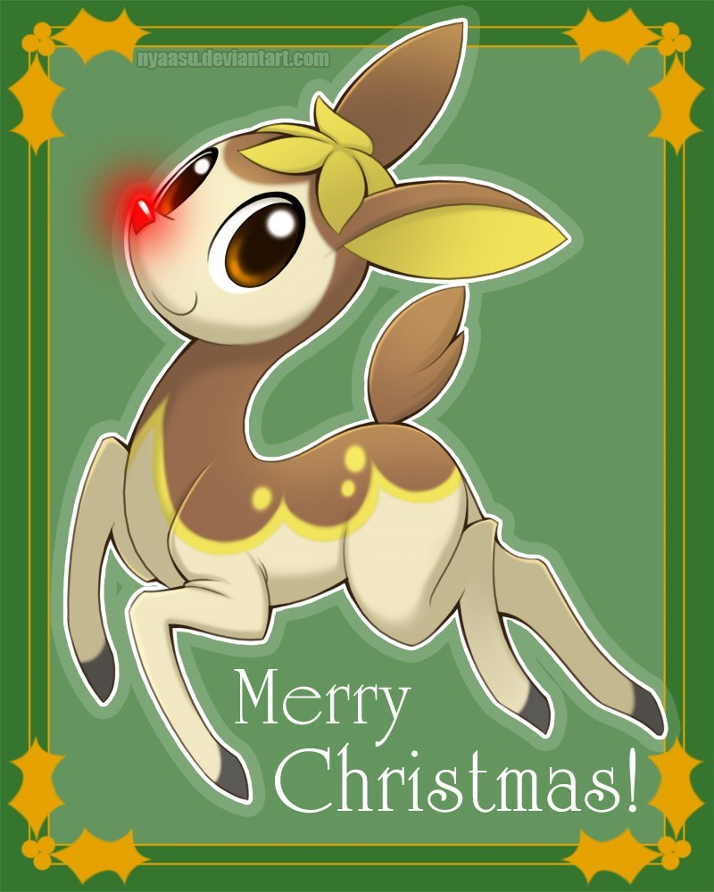 christmas,Fan Art,deerling