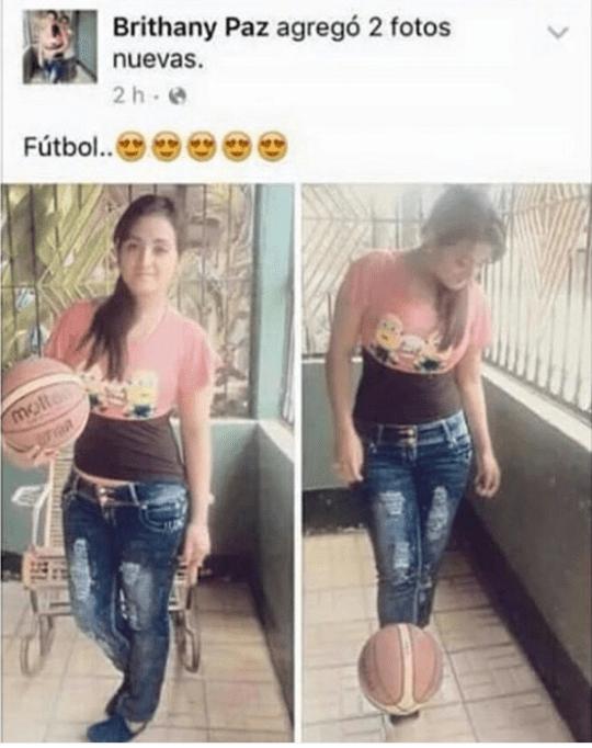 jugando futbol