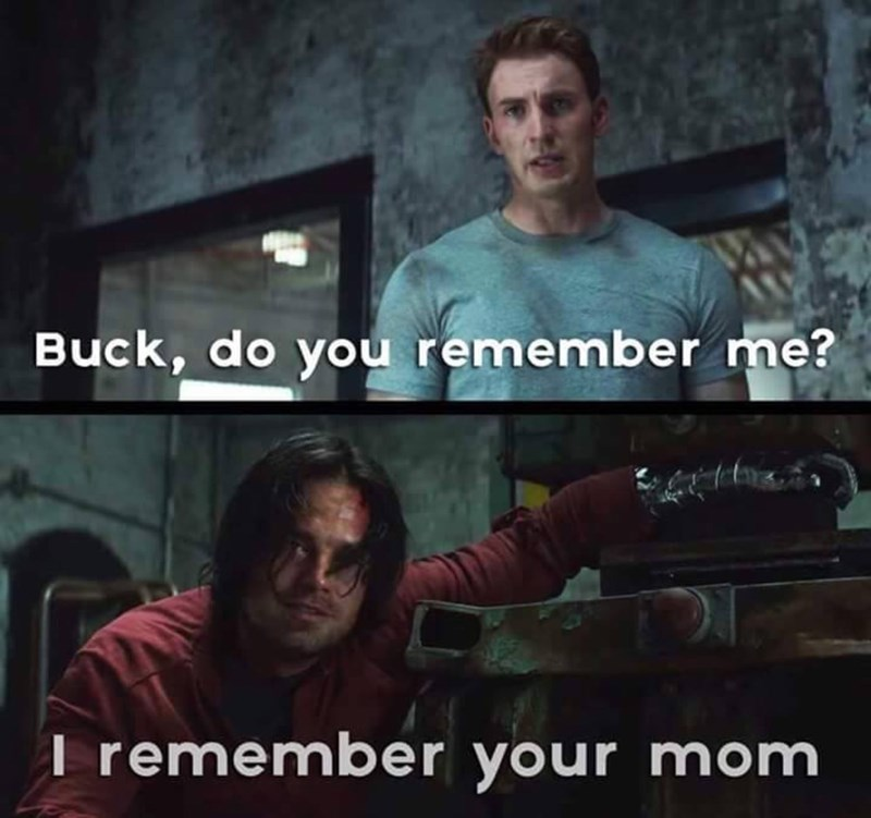 captain america bucky barnes your mom Uhhh...