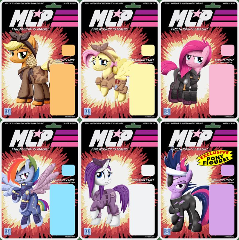 the cutie re-mark applejack action figures twilight sparkle pinkie pie rarity fluttershy rainbow dash - 8593851136