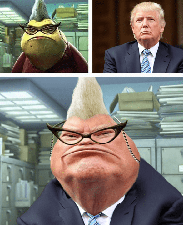 funny memes donald trump monsters inc