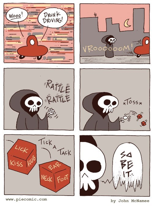 web comics death Death is Just a Dice Roll Away