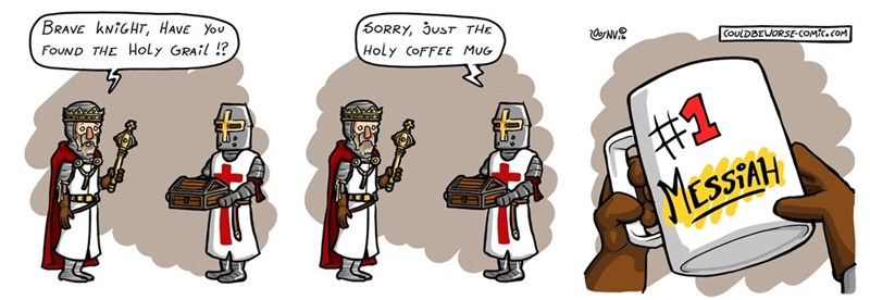 web comics holy grail Close Enough!
