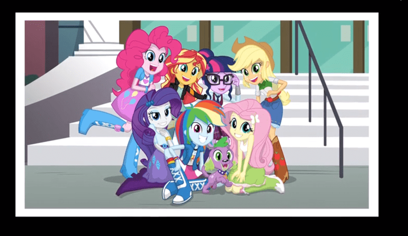 spike,equestria girls,mane 6,sunset shimmer,friendship games