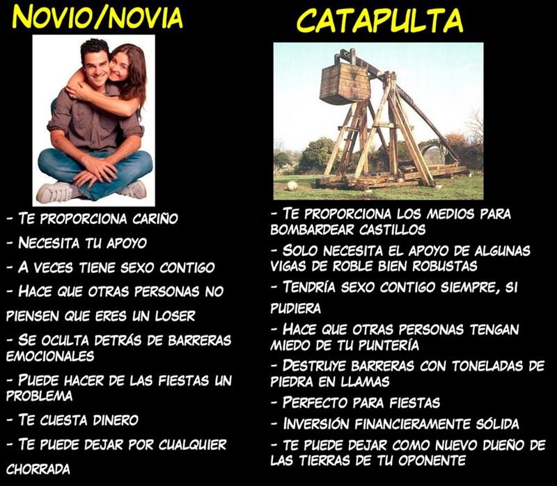 pareja vs catapulta