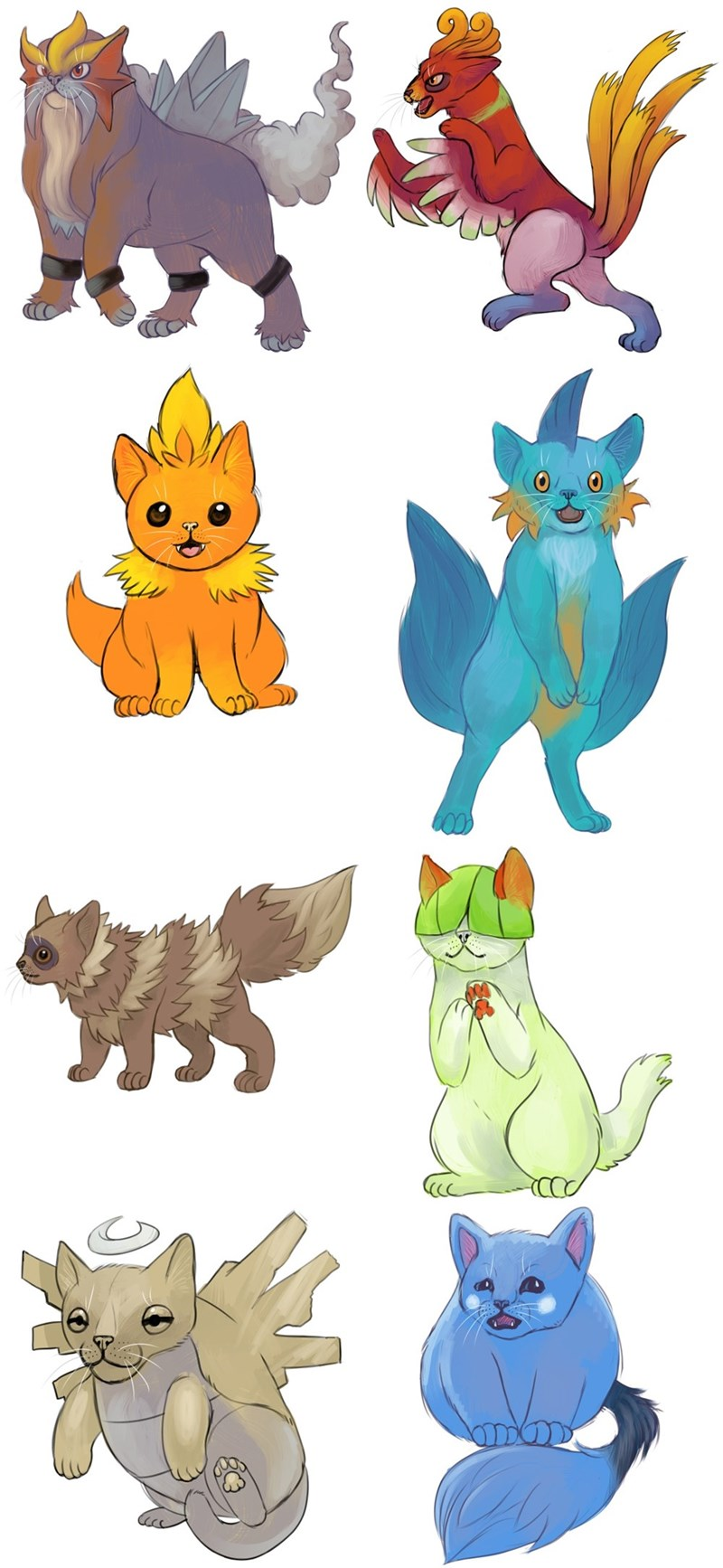 pokemon as cats