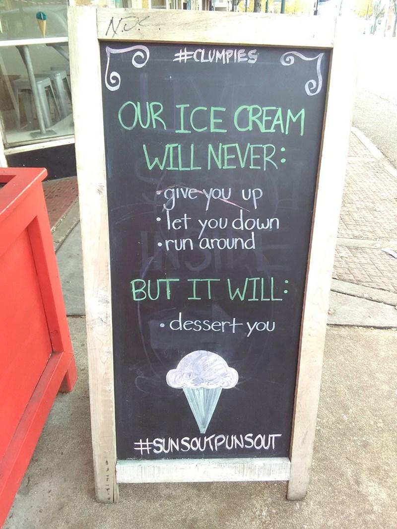 ice cream sign rick roll