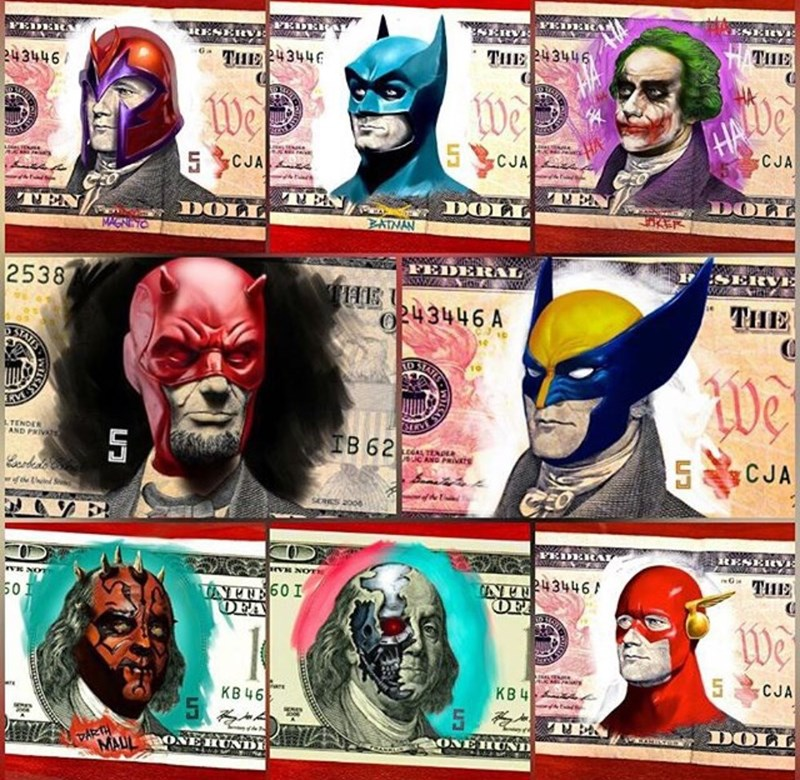 money superheroes Your Currency is Comical