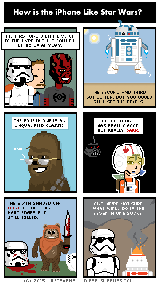 star wars iphone web comics Let's Hope for the Best