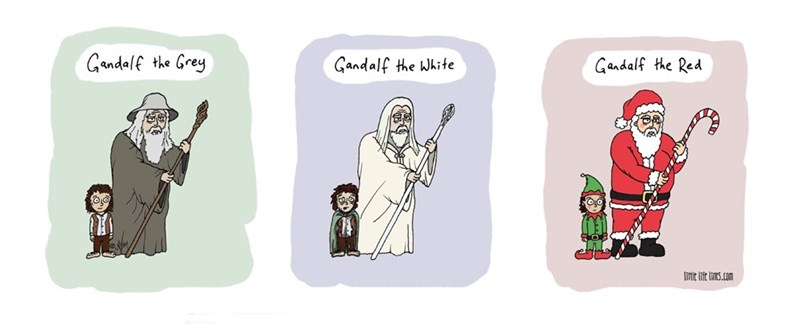 web comics santa gandalf It's the Natural Evolution