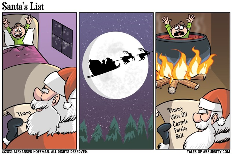 web comics santa christmas I Don't Think That Was Santa
