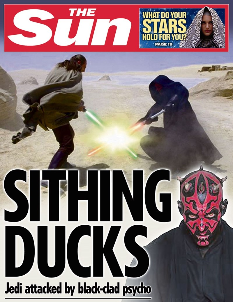 star wars - Poster - Sun THE WHAT DO YOUR STARS HOLD FOR YOU? PAGE 19 SITHING DUCKS Jedi attacked by black-dad psycho