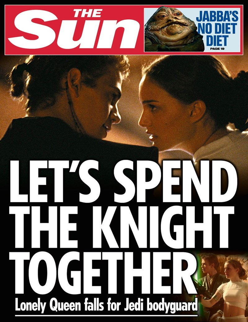 star wars - Movie - Sün THE JABBA'S NO DIET DIET PAGE 19 LET'S SPEND THE KNIGHT TOGETHER Lonely Queen falls for Jedi bodyguard