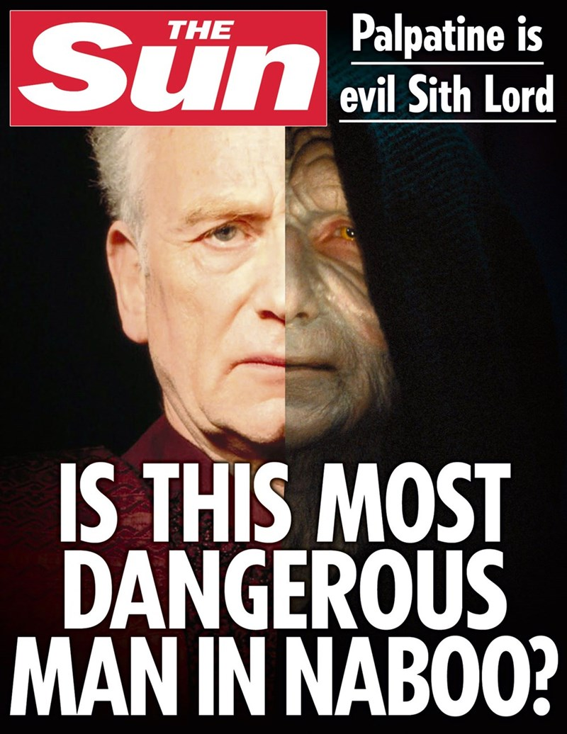 star wars - Photo caption - Sun Evil Sth Lord SunPalpatine is IS THIS MOST DANGEROUS MAN IN NABOO?