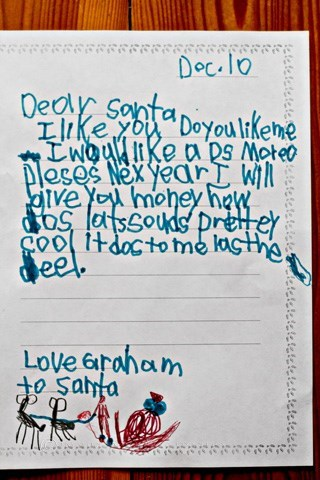 santa This Kid Is Willing to Make a Deal