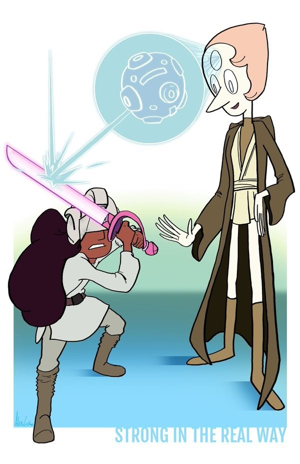crossover star wars cartoons steven universe - 8594945024
