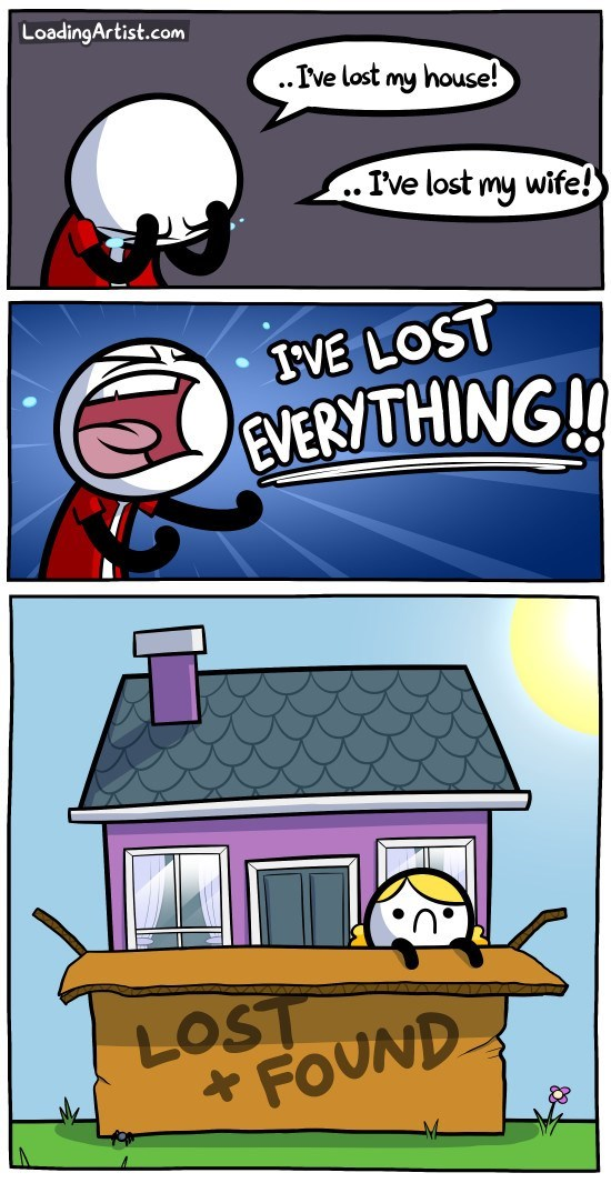 lost and found web comics Have You Even Checked Lost and Found Yet?