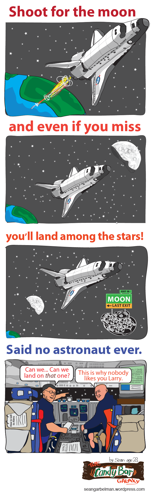 web comics space You Can't Land on a Star