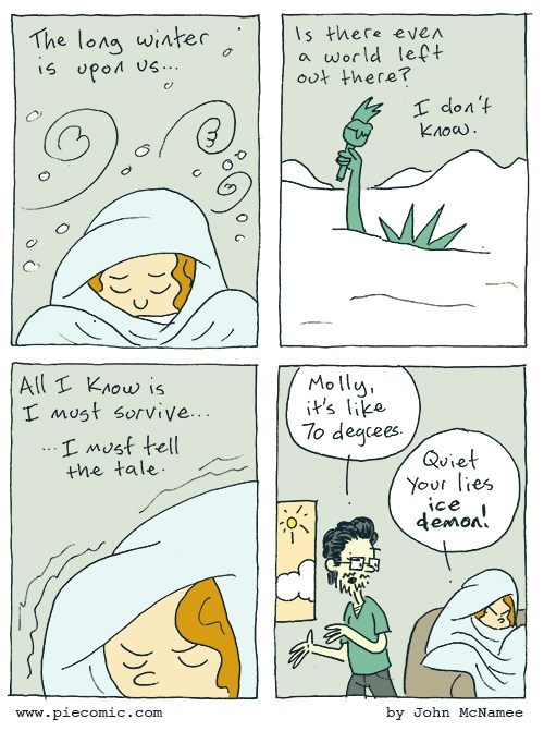 web comics cold Bring Me Some Tea and Another Blanket!