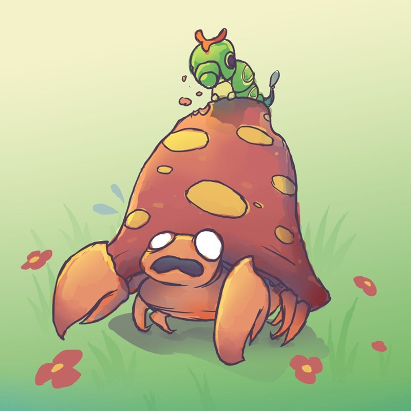 pokemon memes caterpie parasect