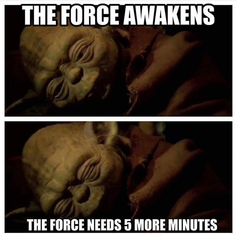 star wars the force needs 5 more minutes
