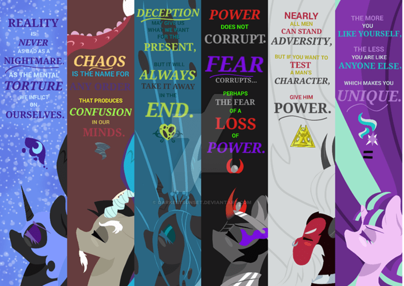 chrysalis,discord,nightmare moon,sombra,tirek,starlight glimmer