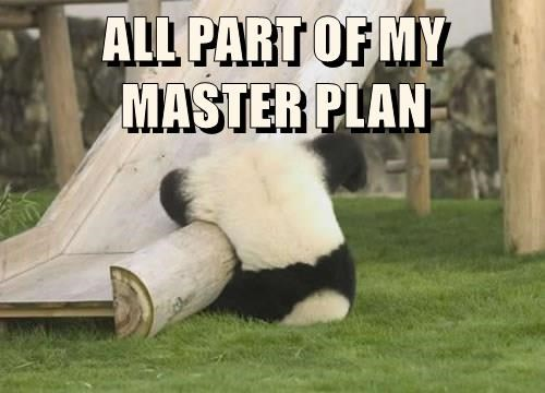 ALL PART OF MY MASTER PLAN