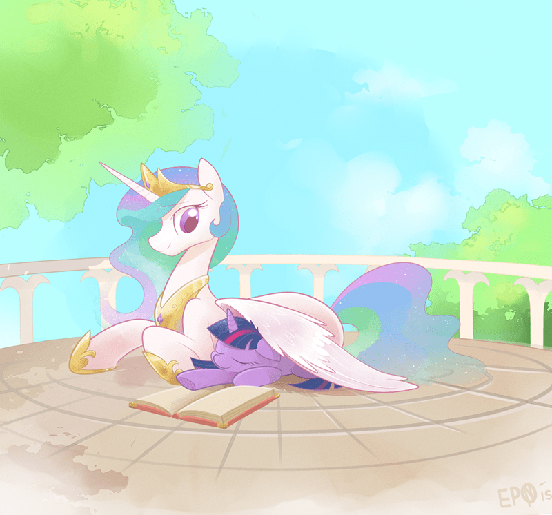 princess celestia,twilight sparkle