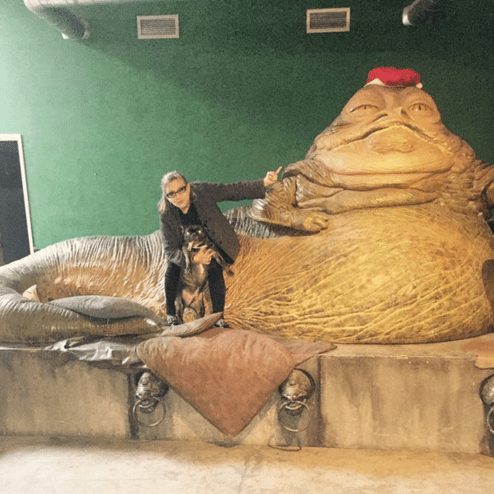 star wars Carrie Fisher Clearly Still Holds a Grudge Against Jabba the Hut in This Picture