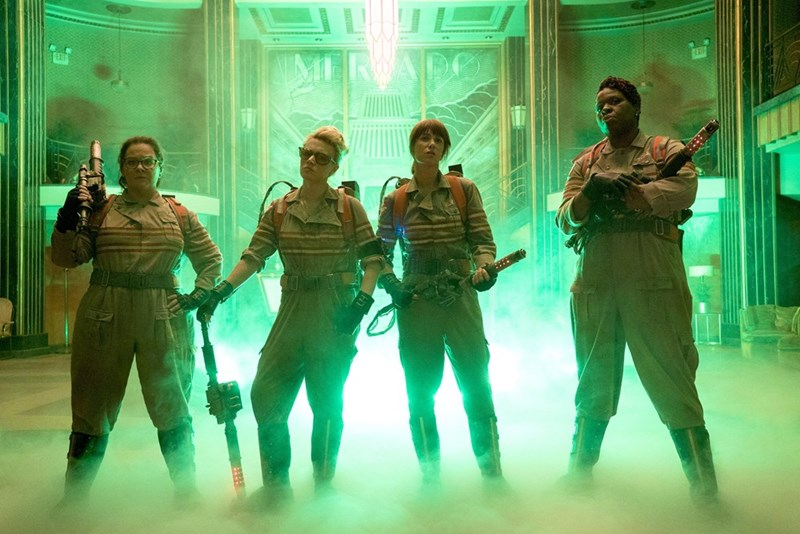 first promo photo from ghostbusters reboot