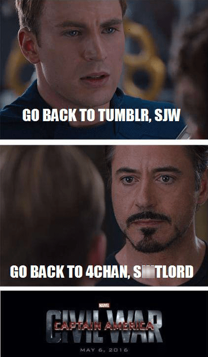 sjw,tumblr,4chan,civil war,avengers