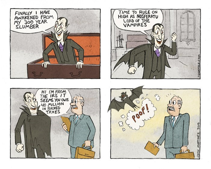 taxes dracula web comics Has He Been Waiting to Tell Him That for 300 Years?