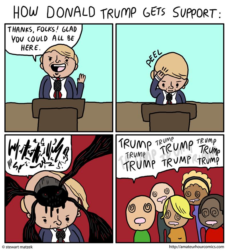 web comics donald trump Makes Sense