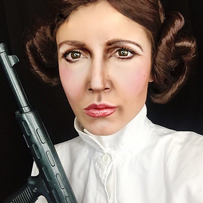 epic princess leia makeup