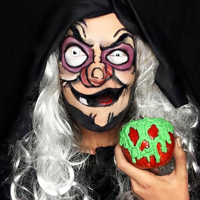 evil queen hag makeup